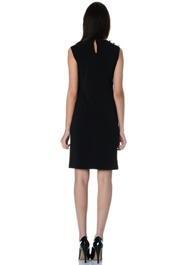 Limon Company Kolsuz Kalem Elbise Siyah